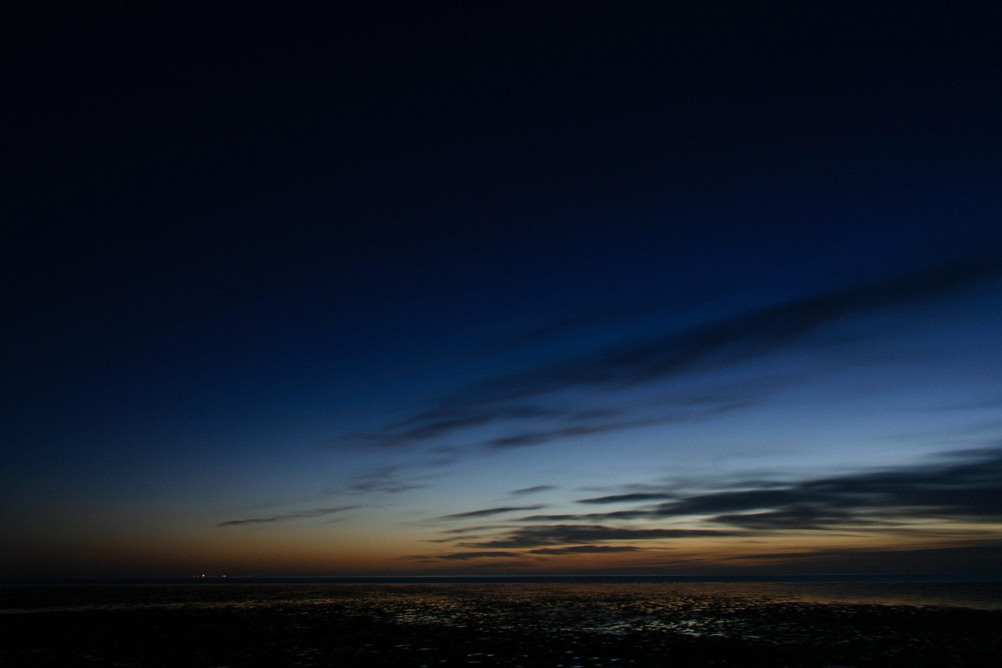 Blaue Stunden im Wattenmeer