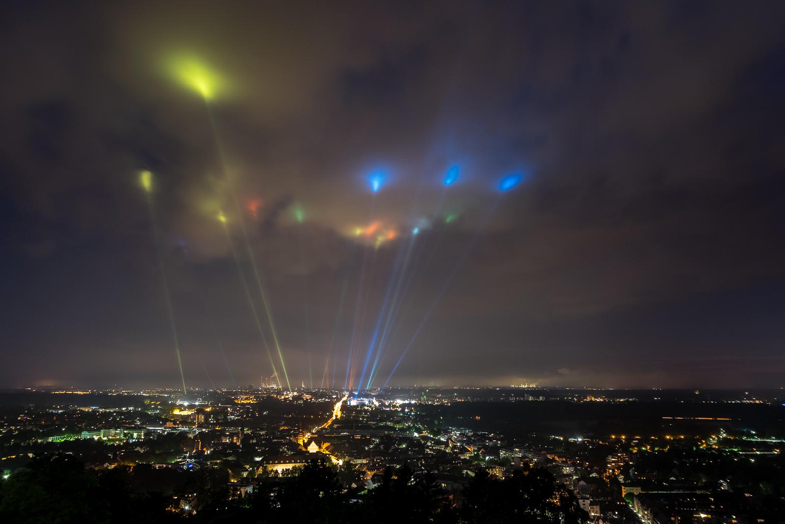 Lichter über Karlsruhe